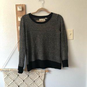 Anthropologie Field Flower Gray Chenille Sweater